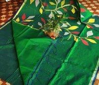 Resom full body sequin work jamdani saree