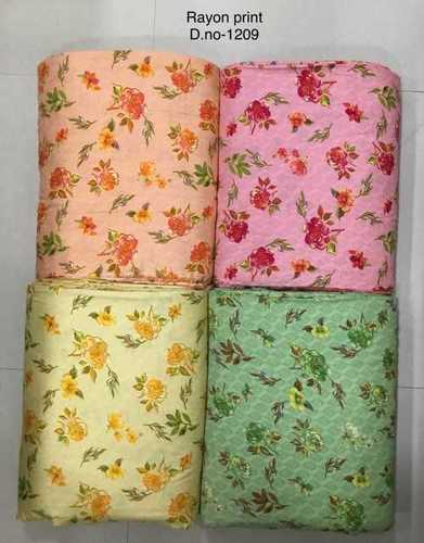 Rayon Flower printed fabric