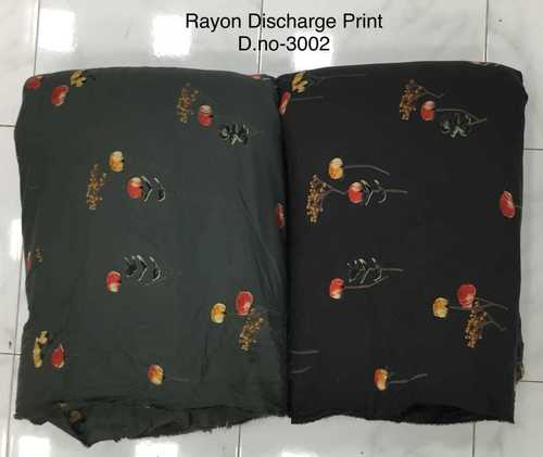 Rayon Discharge Printed Fabric