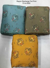 Rayon Discharge Foil printed Fabric