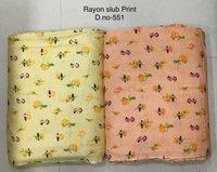 Rayon Slub printed Fabric