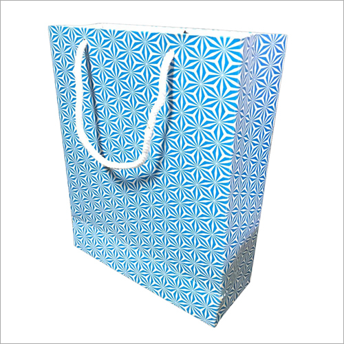 Blue Printed Gift Bag