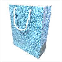 Blue Printed Gift Bag