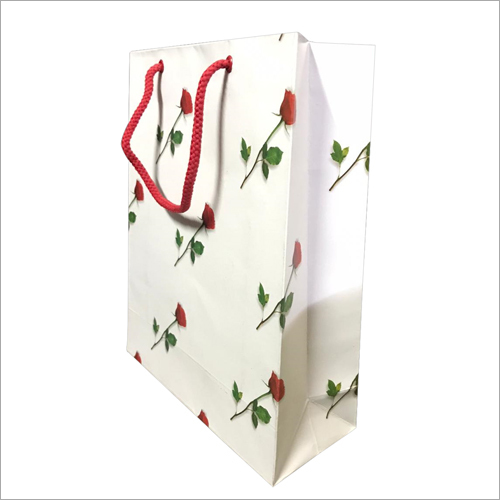 Rose Print Paper Shopping Bag