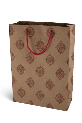 Red Motif Designer Paper Bag
