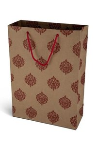 Red Designer Paper Bag