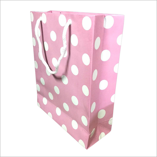 Dotted Print Paper Shopping Bag