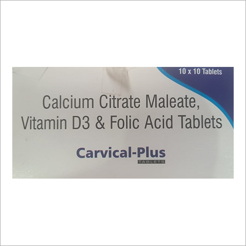 Calcium Citrate Maleate Vitamin D3 And Folic Acid Tablets