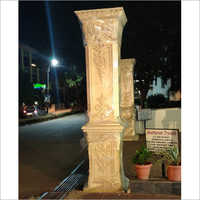 Thermocol Carved Pillar