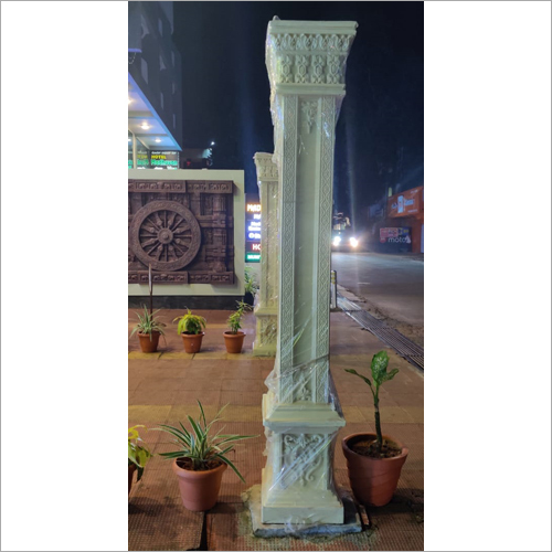 Designer Thermocol Carved Pillar