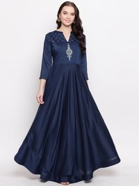 Heavy Viscose Muslin With Value Gown