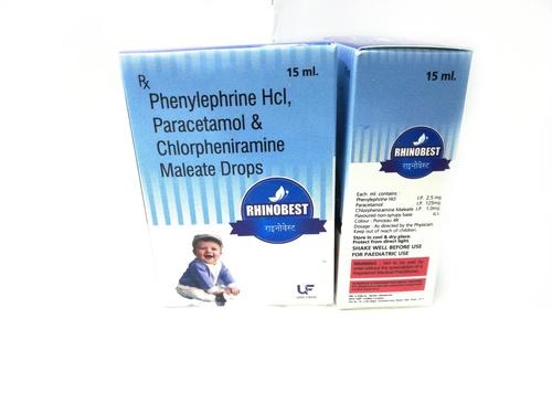 Paracetamol 125mg,  Phenylephrine 2.5mg & Chlorpheniramine 1mg Oral Drops