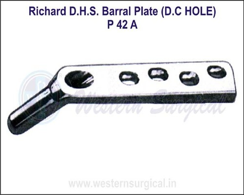 Richard D.H.S. Barral Plate (D.C. Hole)