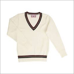 Kids White School Sweater