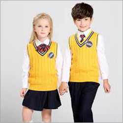 Half Sleeve Kids School Sweater