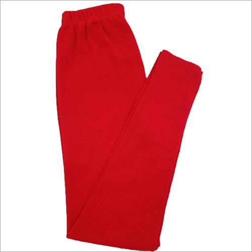 Red Woolen Leggings