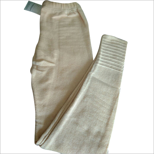 Ladies Off White Woolen Leggings