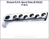 Richard D.H.S. Barral Plate (R.Hole)