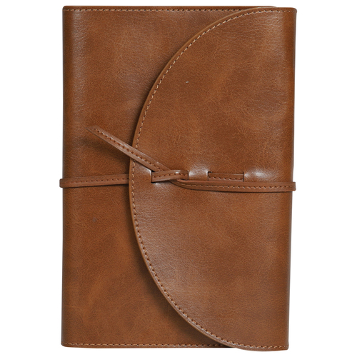 PU Leather Vintage Notes - A6 Size - Notebook Diary with Flap