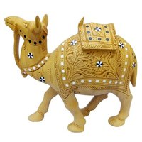 Pure Wooden Material Cemal Jadai and Carving Home Decor Showpice 15cm