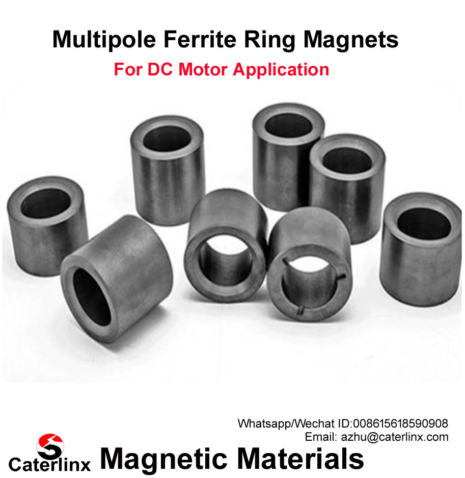 Multipole Ferrite Magnet Rings For Motors