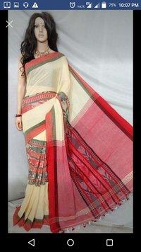 fish design handloom saree