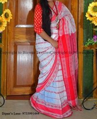Small fish designer khadi  saree