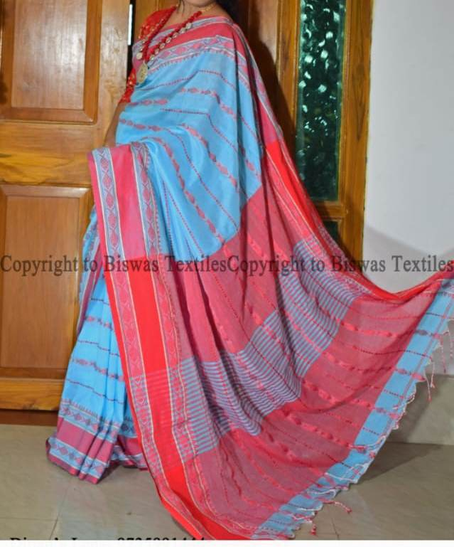 Small fish designer saree