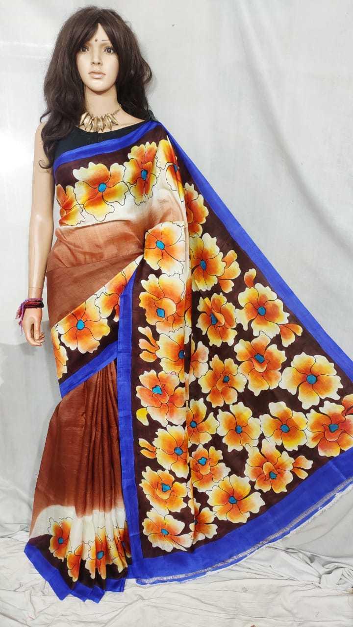 bishnupuri silk handpaint saree