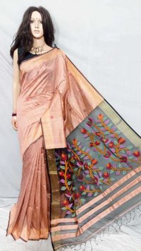 Resom matka jamdani saree