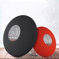 New Style Fashion Mirro Plate Clock Radio Portable Bluetooth Speaker