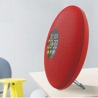 New Style Fashion Mirro Plate Clock Radio Portable Bluetooth Speaker