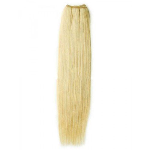 Weft blond virgin remy hair