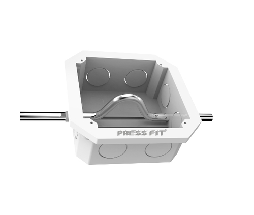 Press Fit GX Ceiling PVC Fan Boxes with Hook