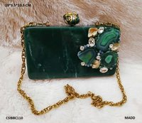 Beautiful & Elegant Resin Clutches with Stone Work