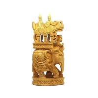 Wooden Material Ambabari Carving in Fine Finishing Hndicraft Art by Apnoghar 15cm
