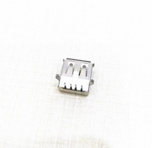 USB 2.0 A Type Socket Connector Female with Flange, Right Angle DIP