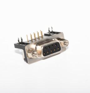 DR9P Female Connector Socket, Rivet, Gull Gold Plated