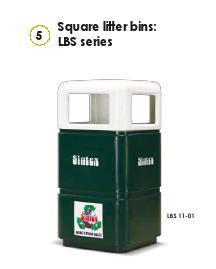 Square Litter Bins