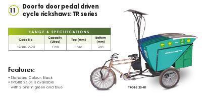 Door To Door Pedal Driven Cycle Rikshaw
