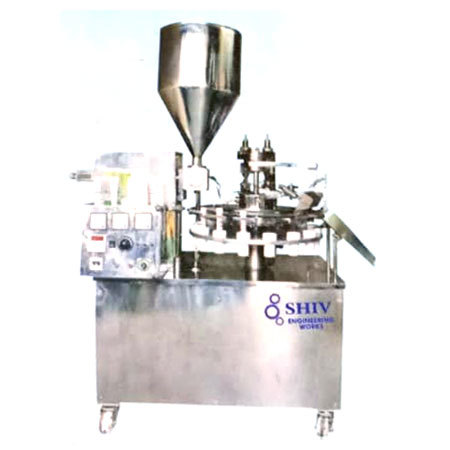 Laminated Tube Filling Machine With Sealing Cutting & Batch Coding