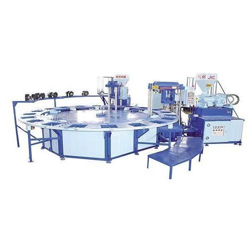 Jic720d Double Color Pvc Air Blowing Molding Machine