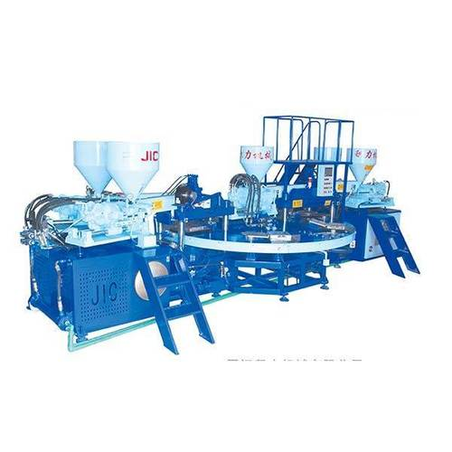 Jic506f Five Color Pvc Upper And Strap Injection Machine