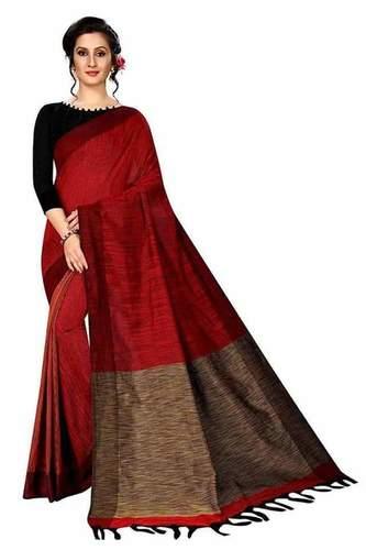 Khadi  gheecha handloom saree