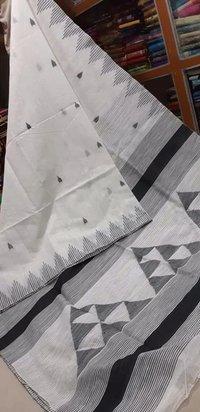 Cotton silk triangle design handloom saree