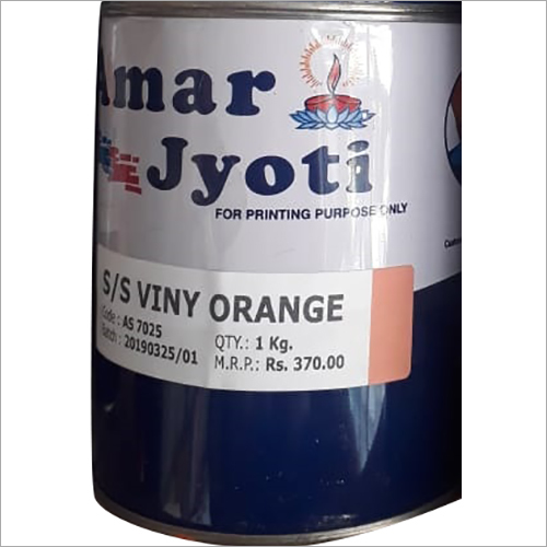 SS Vinyl Orange Screen Printing Ink
