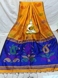 Cotton silk mango design handloom saree