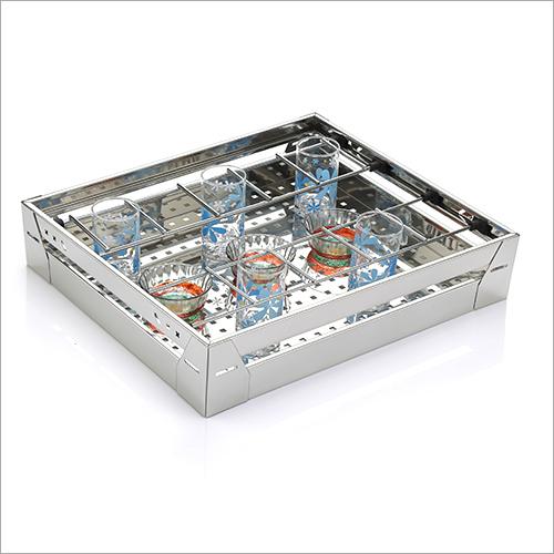 SS Glass Utensils Kitchen Basket