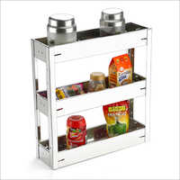 SS Three Tier Kitchen Rack