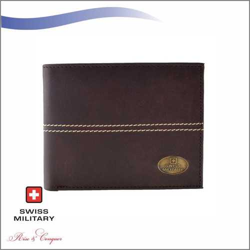 Swiss Military Mens PU Wallet Brown